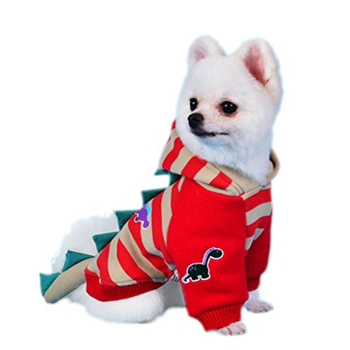 [Uniquorn Autumn And Winter New Cute Little Dinosaur Style Handsome Dog Clothing Teddy Poodle Warm Comfortable Two Feet] (Costume Design For Rabbit Hole)