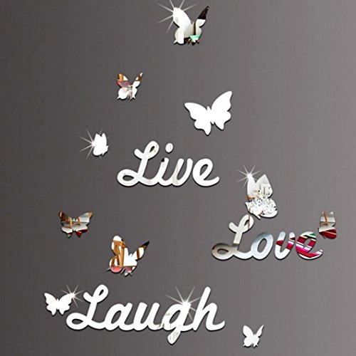 - YJYdada Live Laugh Love Quote Removable Wall Art Stickers Mirror Decal DIY Room Decor (D)