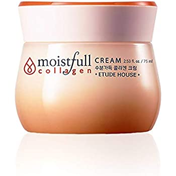 ETUDE HOUSE Moistfull Collagen Cream, Soft Moist Gel Type Moisturizing Facial Cream, 63.4% Super Collagen Water & Bobab Water Makes Skin Plumpy with Long Lasting Moist, 2.53 Fl Oz