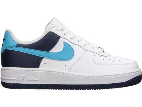Nike Lunarepic Vlieggebreide Loopschoenen Wit / Chloorblauw-midden Marine