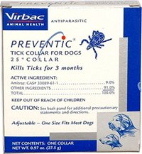 Preventic Tick Collar for Dogs, 18''