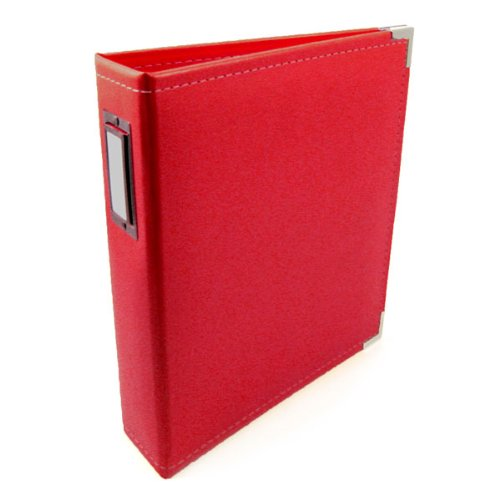 We R Memory Keepers Classic Leather 3-Ring Album, 5.5 by 8.5-Inch, Real Red