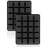 40 Piece Ice Cube Tray 2.5 cm Silicone Moulds/Whiskey Squares, 20 per Tray, Set of 2.