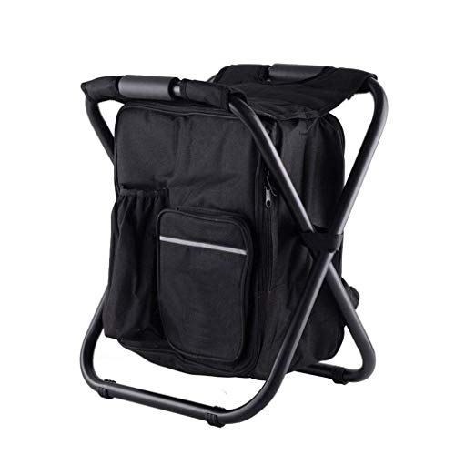 - DLINMEI Ultralight Backpack Chair, Portable & Folding Camping Chair Stool Backpack with Cooler Picnic Bag, Hiking Fishing Backpack Chair, for Beach BBQ (Color : Black)