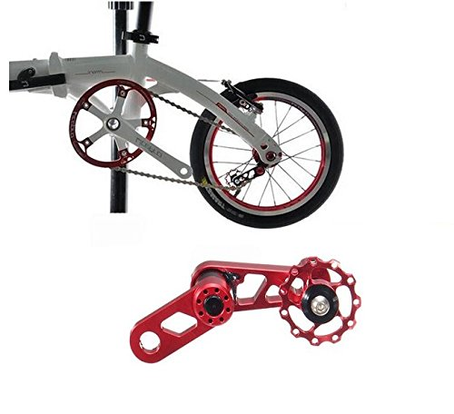 MD Group Bike Chain Speed Single Converter Bicycle Tensioner Adjuster Aluminium Red MTB Folding by MD Group (Image #1)
