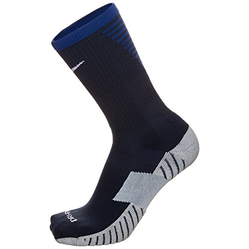 Nike Performance Cushioned Soccer Crew Socks (Black/Blue) (MD (Men's Shoe 6-8, Women's Shoe 6-10)) (Kids Soccer Socks Nike)