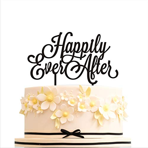 Happily Ever After Cake Topper (Cake topper Happily Ever After Wedding cake toppers for wedding Cake Decorations HappyPlywood (width 6