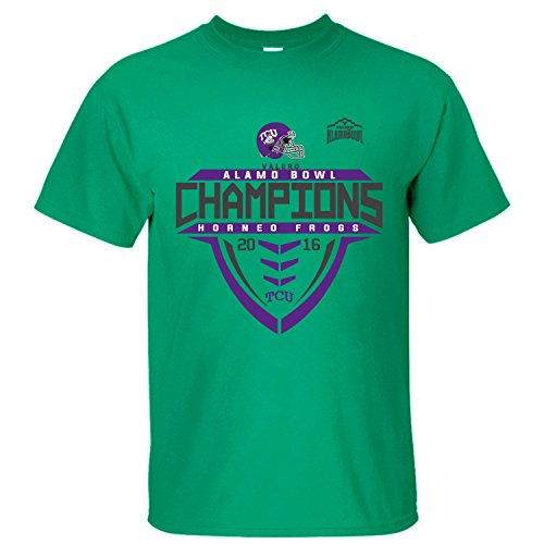 - MVYE Men's TCU Horned Frogs 2016 Alamo Bowl Champions T Shirt Organic Cotton green XXL