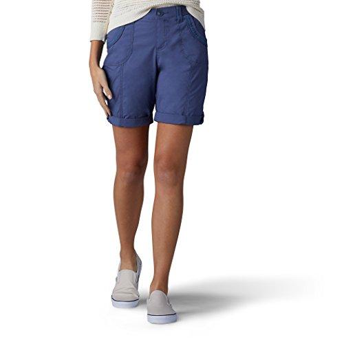 LEE Women's Relaxed Fit Melody Knit Waist Bermuda Short, Indigo Blue, 16