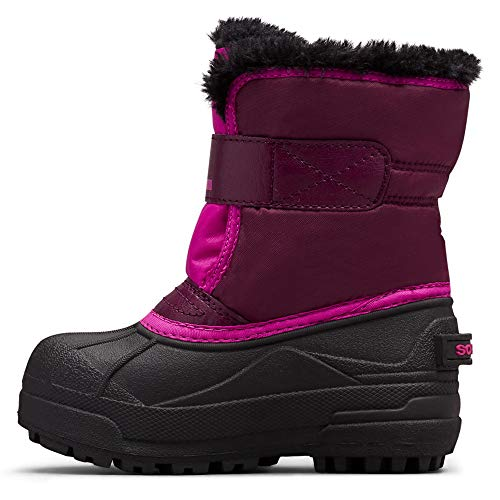 Sorel - Youth Snow Commander Snow Boots for Kids, Purple Dahlia/Groovy Pink, 13 M US