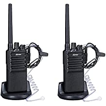 Walkie Talkies Voice Scrambler 2 Way Radios with Earpiece for Adults Outdoor CS Hiking Hunting Travelling By Luiton (2 Packs)