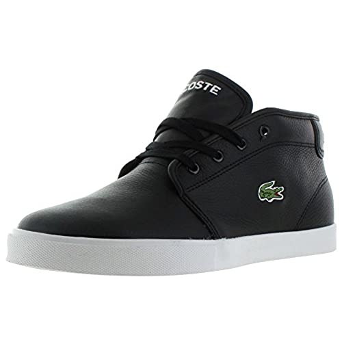 a849daa56adc outlet Lacoste Ampthill Tbr2 Spm Mens Black Leather Lace Up Sneakers Shoes