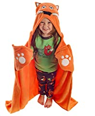 Imagination meets relaxation in our new Critter kid blankets! Your littles will love transforming into their favorite animal alter egos at bedtime, playtime, or anytime! Simply slip the hood over the noggin and nestle hands into the cozy corn...