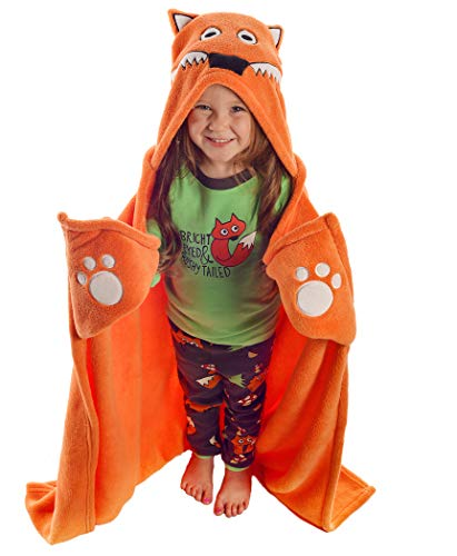 - Fox Blanket Childrens Hooded Animal Critter Blankets by LazyOne | Childrens Dress Up Large Travel Blanket (ONE Size)