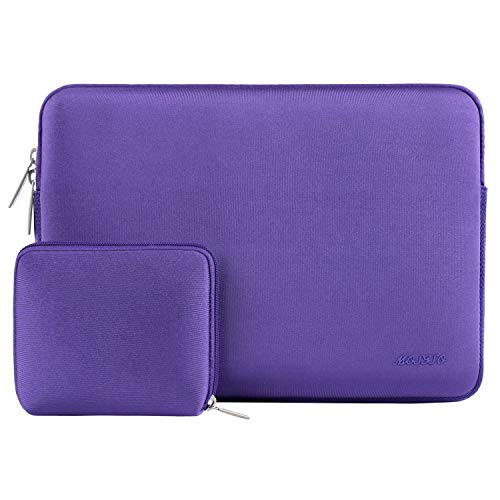 MOSISO Water Repellent Neoprene Laptop Sleeve Bag Cover Compatible with 15-15.6 inch MacBook Pro, Notebook Computer with Small Case, Ultra Violet