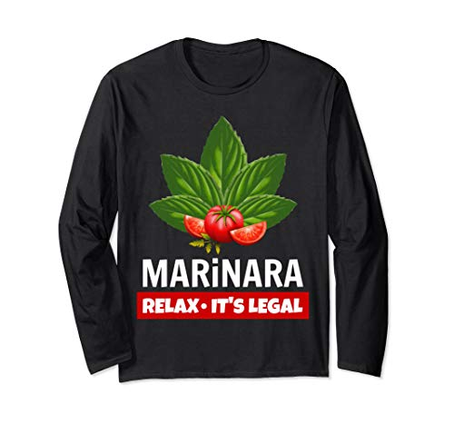 Marinara Relax It's Legal Basil Leaves and Tomatoes Unisex Long-Sleeve T-Shirt