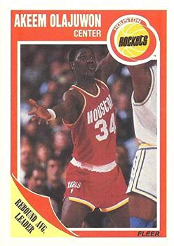 1989-90 Fleer #61 Hakeem Olajuwon Rockets NBA Basketball -