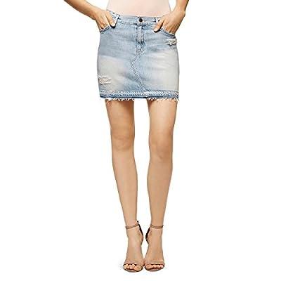 Sanctuary Womens Peyton Denim Destroyed Mini Skirt