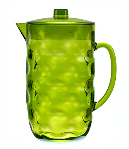 green glass water pitcher - 7