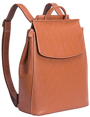 Lily Queen Leather Backpack for Women Small Backpack Purse Casual Brown