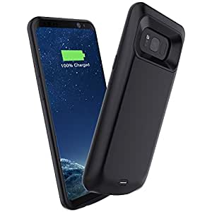 Galaxy S8 Battery Case,Elebase Galaxy S8 5000mAh Portable External Backup Charging Case For Samsung Galaxy S8,Rechargeable Impact Resistant Power Bank Case (Black)(Not for Galaxy S8 Plus)