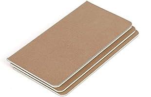 Recambio de papel para cuaderno de piel - Papel Cuadrícula - Paquete de 3 | Para diarios, agendas y planificadores de viajes de cuero recargables | 21 ...