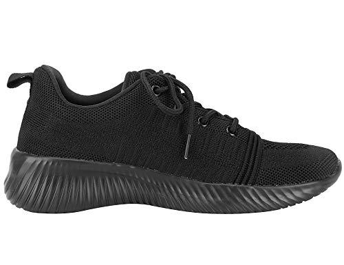 Mujeres Zapatillas Las Zapatos Deportivas Negro Respirable Casuales 0AdZqnPw