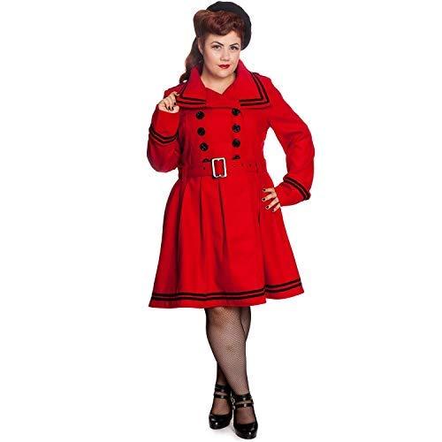Millie Stile Nautico Petto Rosso Vintage A Svasato Cappotto Doppio Invernale Bunny Hell Giacca 5wqFYRn
