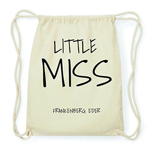 JOllify FRANKENBERG EDER Hipster Turnbeutel Tasche Rucksack aus Baumwolle - Farbe: natur Design: Little Miss OT4mk