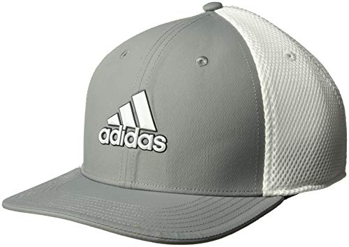 (adidas Golf Men's A-Stretch Tour Hat, Grey Three/White, Large/X-Large)