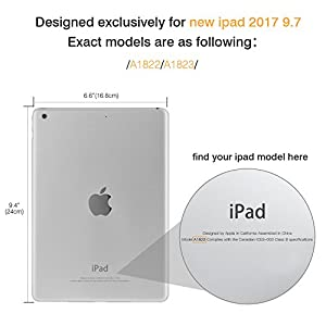 MoKo Case for iPad 9.7 2018/2017 - Slim-Fit Multi-angle Folio Cover Case with Auto Wake/Sleep for Apple iPad 9.7 Inch (iPad 5, iPad 6), BLACK