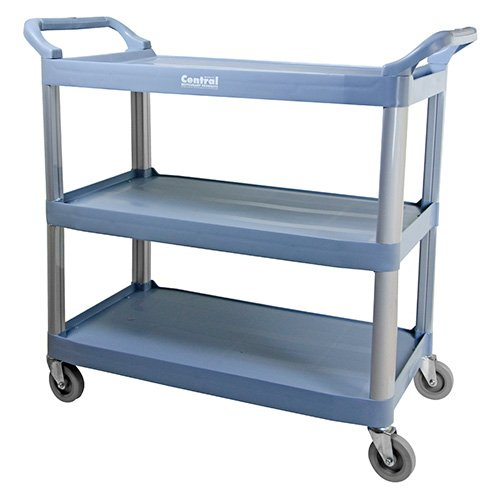 Value Series BC-3520GZ Bussing and Utility Cart – 3 Shelves, 40 Wx20 Dx38 H Overall