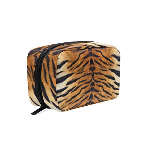 (TFONE Animal Tiger Print Cosmetic Bag Portable Travel Clutch Pouch Makeup Pack Toiletries Storage Bag)