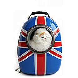 Pet Bag Cat Dog Carrier Spaceship Bag Capsule Backpack Union Jack