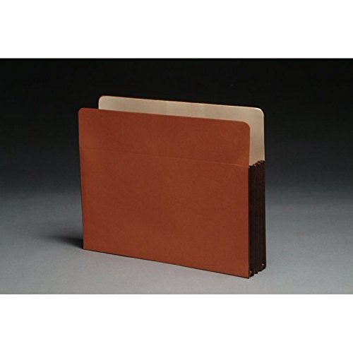 Standard TOP TAB Expansion Pockets, Chocolate Brown Tyvek Gussets, Letter Size, 3-1/2'' Expansion (Carton of 100)