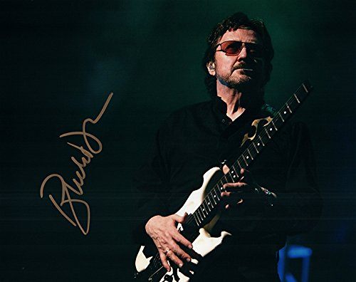 Blue Oyster Cult Buck Dharma Live Autographed Photo W/ White Guitar