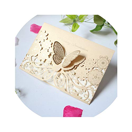 Three dimensional butterfly card creative cutout wedding engagement