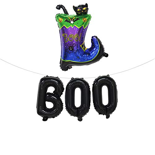 Halloween Balloons Set | Halloween Theme Party Decorations | Boo Balloons Banner | Boot Balloon]()