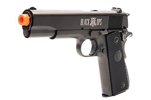 Black Ops 1911 Gas Blowback Airsoft Pistol - Full Metal Semi Automatic with Hop Up GBB Pistol (Blowback Rifles Gas)