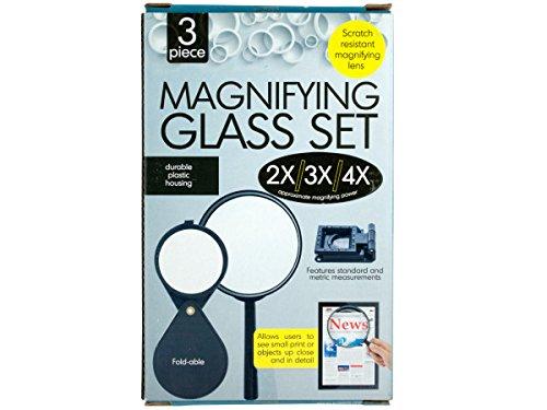 Bulk Buys OD388-20 Magnifying Glass Set B00OAE7564
