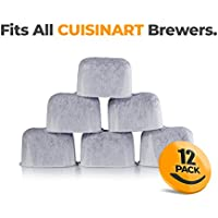 K&J 12-Pack of Cuisinart Compatible Replacement Charcoal...