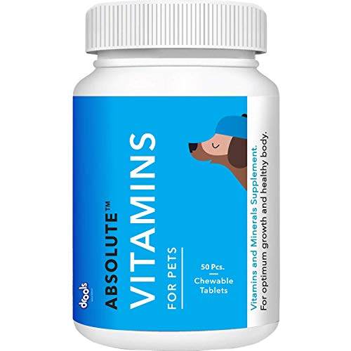 Drools Absolute Vitamin Tablet- Dog Supplement, 50 Pieces
