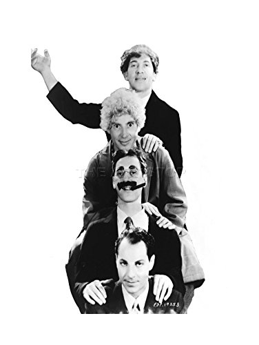 PHOTO BW HARPO GROUCHO MARX BROTHERS ART FRAME PRINT PICTURE F12X836 (Brothers Marx Poster)