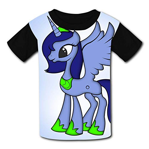 APICELLAjiow Magic-Princess My-ittle Lovely P-Ony Children T-Shirts Crew Neck Short Sleeve Raglan Costume Tee Shirt for Youth