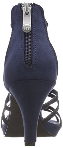 Marco Tozzi Women's 28373 Gladiator Sandals, Black, 4 UK Blue (Navy Comb 890)