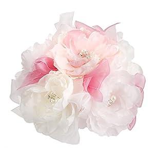 Darice Victoria Lynn Artificial White Pastel Silk Flower Cake Topper 32