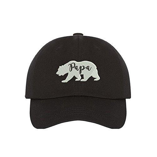 (Prfcto Lifestyle Papa Bear Family Dad Hat - Black Baseball Hat - Unisex)