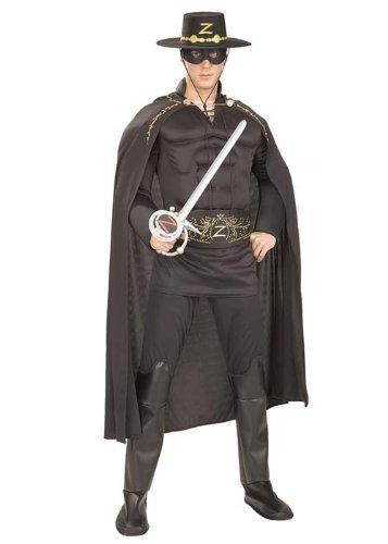Zorro Muscle Chest Hero Costume (struts-6775) - Men: X-Large by Struts Fancy Dress (Chest Muscle Zorro)