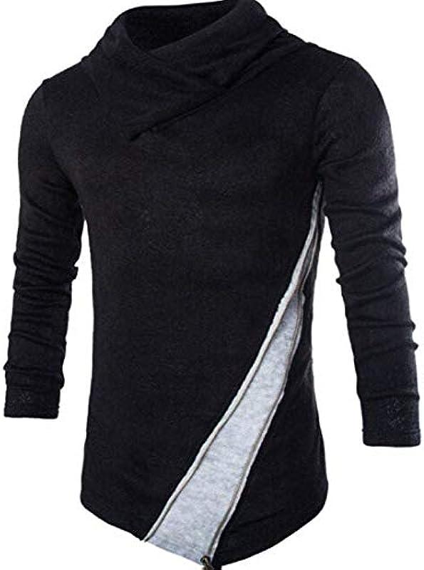 Męski casual Roll Neck Jumper Knitwear zimowy sweter długie rękawy sweter Slim gÓrne części topy: Odzież