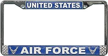 Retired Air Force Aluminum Novelty Vanity Metal License Plate 6  x 12